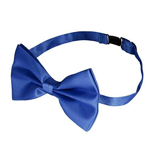 LetiStore • Fliege Blau Herren • Gebunden und Verstellbar • Fliegen für Männer mit Gummiband • Schleife in 15 Farben Matt und Glänzend • Krawatte zum Anzug Smoking Hemd