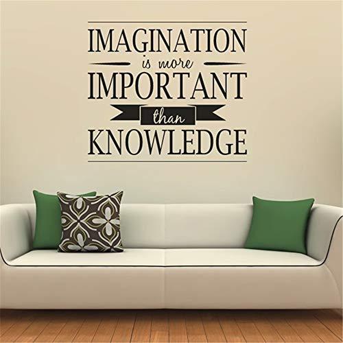 wandaufkleber blumenranke Phantasie ist wichtiger als Wissen für Wohnzimmer Schlafzimmer