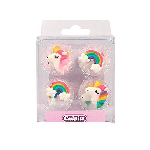 Culpitt 12 Zuckerfiguren Regenbogen und Einhorn