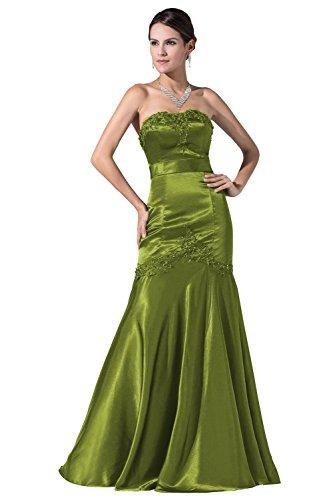 YiYaDawn -  Vestito  - linea ad a - Donna Verde oliva