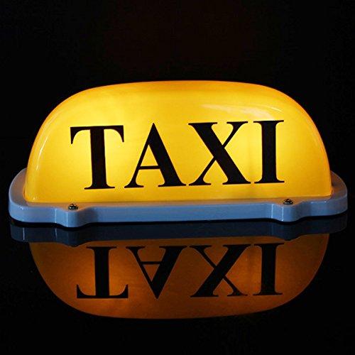 Plat Ferme DC 12 V de Voiture Taxi Cab Roof Top Signe Lampe magnétique Jaune Grande Taille