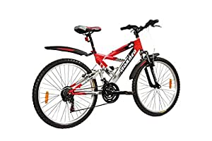 Hercules Roadeo NFS Disc- 26 x 18-18 Speed Bicycle (Red/Silver)