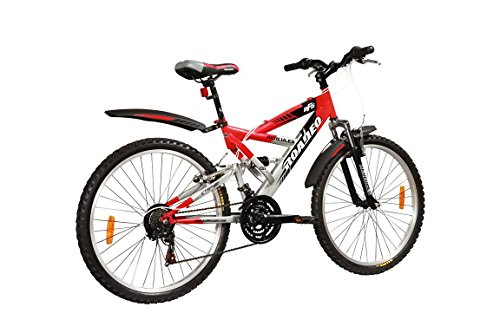 hercules roadeo nfs disc- 26 x 18 - 18 speed bicycle (red/silver) Hercules Roadeo NFS Disc- 26 x 18 – 18 Speed Bicycle (Red/Silver) 41zOszHzUPL