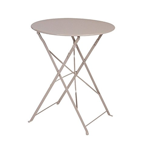 Table Camargue ronde 2 personnes Hespéride taupe