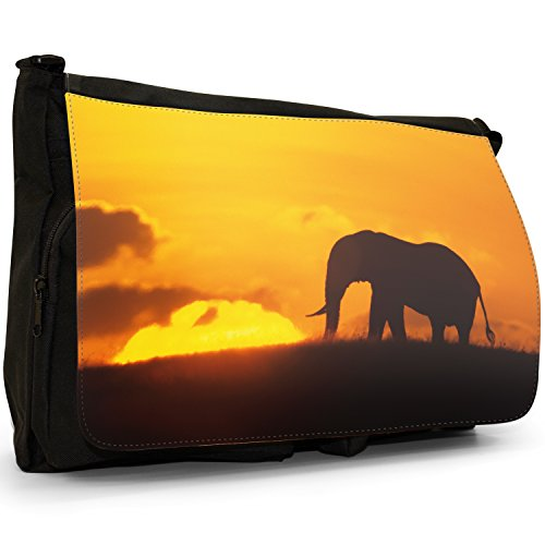Fancy A Bag Borsa Messenger nero Elephant Elephant Silhouette