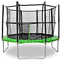 Jumpspirit 10 ft (305 cm) Premium giardino trampolino con rete di sicurezza recinzione, Scala, Trampolino Gioco