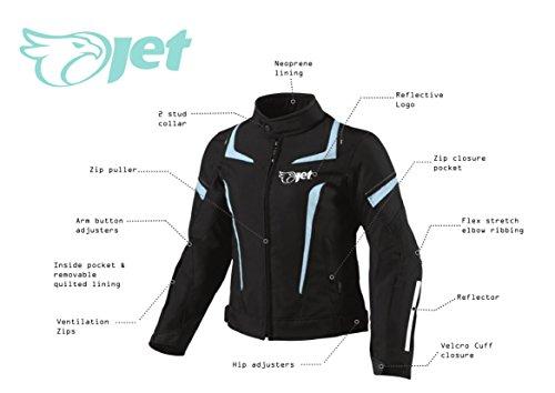 JET Motorradjacke Damen Textil Wasserdicht Winddicht Mit Protektoren - 5