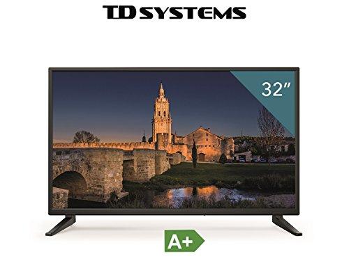 Televisores led HD 32 Pulgadas TD Systems K32DLM7H (Resolución 1366x768/ HDMI x3/ VGA x1/ Eur x1/ USB Reproductor y Grabador) TV  Televisiones HD