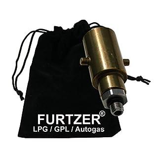 Furtzer LPG GPL Autogas Tankadapter M10 BAJONETT kurz mit Stahlanschluss Adapter mit Stoffbeutel, Premiumprodukt by