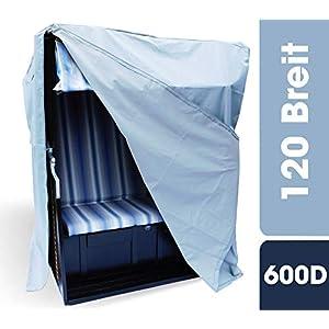 Huellen King Premium Strandkorb Schutzhülle 120 breit | Winterfest und UV Beständig | 600D Oxford Gewebe…
