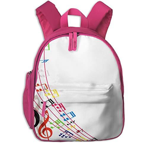 Kinderrucksack Musiknoten Musikalische Komposition, Schulrucksack für Mädchen und Jungen Schultasche Schulranzen Teenager Backpack Daypack Freizeitrucksack Kinder Rucksack
