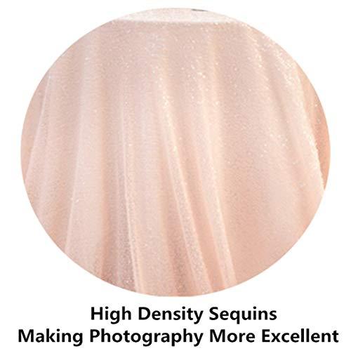 ShinyBeauty Sequin Tablecloth Peach 120x120