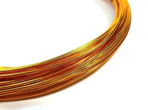 12m ALUMINIUMDRAHT 1mm GOLD KUPFER SCHMUCKDRAHT BASTELN BIEGEDRAHT Aludraht C109