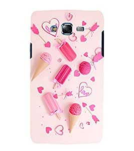 printtech Love Heart Icecream Design Back Case Cover for Samsung Galaxy Grand Prime G530h