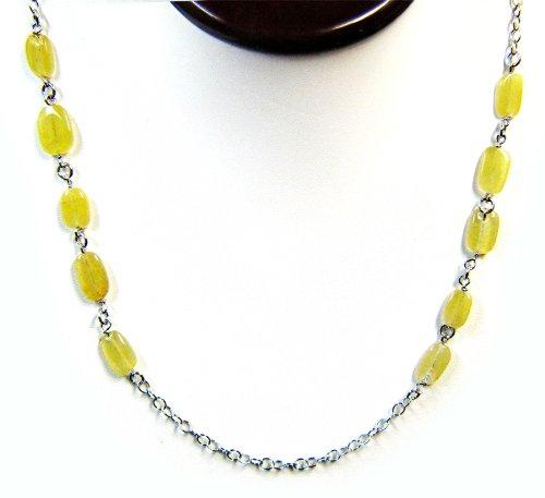 5 Sterling Silber Edelsteinketten - Intrigue Peridot Quartz lange Halskette aus Sterling Silber 46 Zoll (46-zoll-halskette)