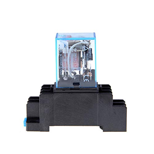 Corneliaa-DE AC 220 V Spule Leistungsrelais LY2NJ DPDT 8 Pin PTF08A JQX-13F Mit Sockel Basis Elektronische Micro Mini Elektromagnetische Modul Schalter -