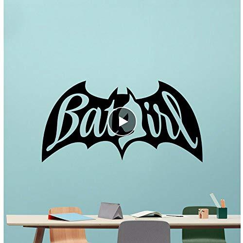 attoo Abnehmbare Superheld Vinyl Wandaufkleber Home Kinderzimmer Dekor Batgirl Design Movie Poster Wandbild ()