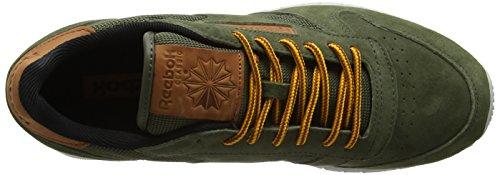 Reebok Herren Classic Leather Ol Sneakers Grün (Poplar Green / Steel / Semisolargld / Ginger / Pwred)