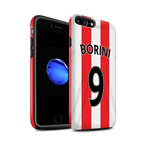 Offiziell Sunderland AFC Hülle / Matte Harten Stoßfest Case für Apple iPhone 7 Plus / Kone Muster / SAFC Trikot Home 15/16 Kollektion Borini