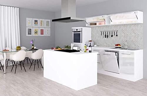 respekta - Bloque de Cocina (280 cm), Color Blanco: Amazon.es ...