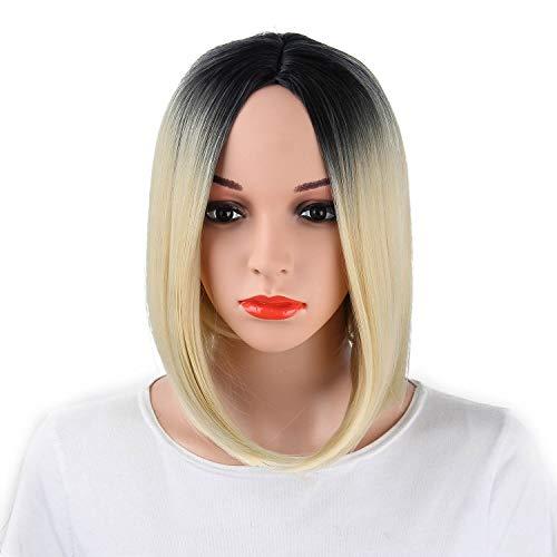 HAOBAO Bobo Head Gradient Kurze gerade Haar Damen Perücke hohe Temperatur Draht Halloween Cosplay Perücke 33cm * 150g, 002 -