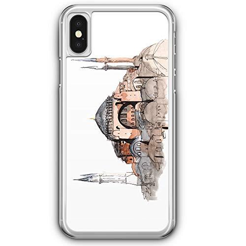 Hagia Sophia Ayasofya Istanbul Türkei - Hülle für iPhone XS - Motiv Design Türkiye Cami Islam - Cover Hardcase Handyhülle Schutzhülle Case Schale