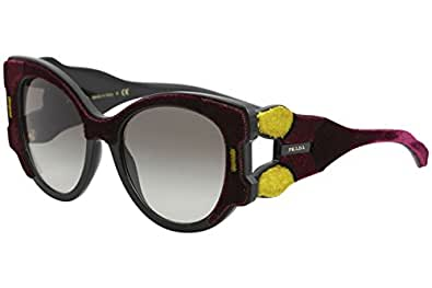 Prada 0PR10US I7Y0A7, Occhiali da Sole Donna, Bordeaux/Yellow/Brown/Grey, 54