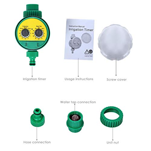 Rotary Control Valve (Leoboone Rotary Knob Water Timer Automatic Electronic Watering Timer Valve Irrigation Sprinkler Controller for Micro Drip Irrigation)