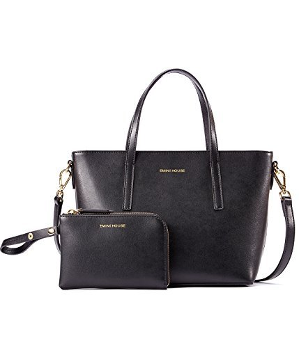 Handtasche mit Reißverschluss für Damen, Schwarz (schwarz 1), Medium ()