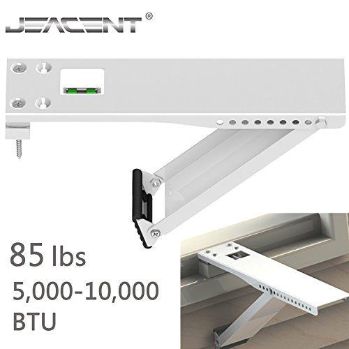 Jeacent universal ac fenster klimaanlage haltewinkel heavy duty, unterstützungen 85 lbs bis zu 85lbs-1pack weiß -