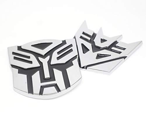 nument (TM) Transformers 3D Stil Pure Metall Auto dekorativen Aufkleber Aufkleber Ornament Badge 1Paar 7,6x 7,6cm