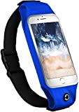 moex Multifunktionale Sporthülle für Sony Xperia Z3 Compact | Ideal für Sport - Wasserabweisend mit Kopfhöreröffnung + 2-teiliger Innentasche, Blau