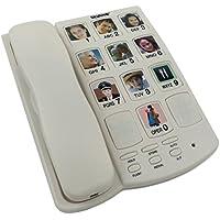 Teléfono con teclas grandes portafotos