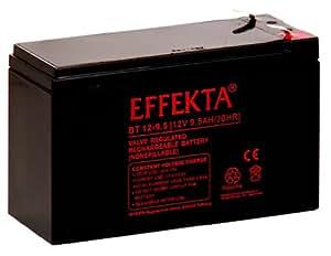 effekta AGM Batterie type BT12-9,5Connexion 12V 9,5Ah 6,3mm