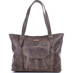 Masquenada - Bolso de tela para mujer marrón 40x31x12cm (l x an x a)