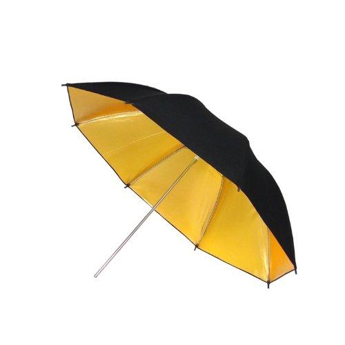 DynaSun UR02 Parapluie Professionnel pour Studio Photo/Vidéo avec Réflecteur/Diffuseur 84 cm Or/Noir