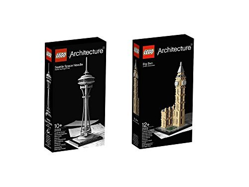 Lego Architecture Seattle Space Needle 21003 And Big Ben 21013 Picture