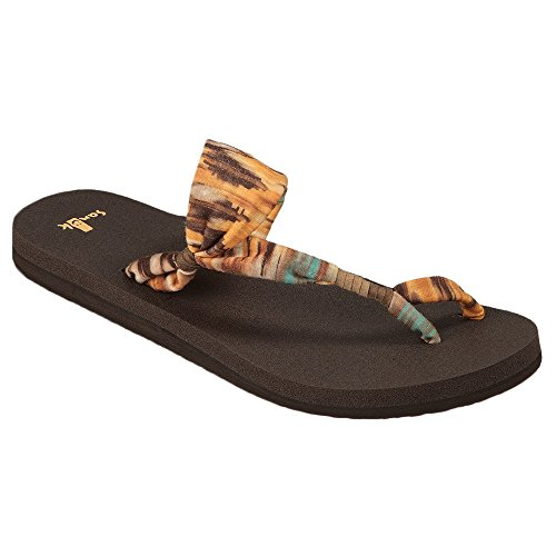 Sanuk Yoga Sling It On Womens Sandals Dusty Yellow Multi Prints