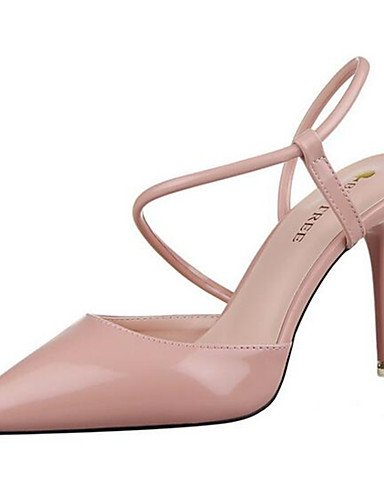 WSS 2016 Chaussures Femme-Habillé / Soirée & Evénement-Noir / Rose / Violet / Rouge / Blanc / Gris-Talon Aiguille-Talons-Talons-Similicuir black-us6.5-7 / eu37 / uk4.5-5 / cn37
