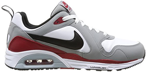 Nike 652824 100 Air Max Trax Leather Herren Sportschuhe - Running Mehrfarbig (WHITE/BLACK-SILVER-GYM RED)