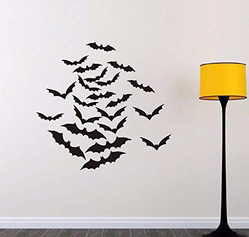 Kinder Heimtextilien 22 Stücke Schwarz Fledermaus Halloween Wandaufkleber Für Kinderzimmer Kunst Vinilos Paredes Abnehmbare Wohnzimmer 43,5 * 38 cm