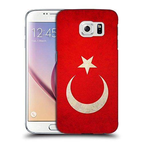 Head Case Designs Türkei Türkisch Vintage Fahnen Ruckseite Hülle für Samsung Galaxy S6