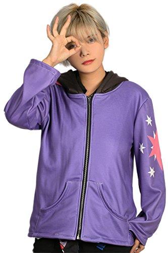 Cosplay Kostüm Hoodie Kapuze pullover Jacke Damen Lila Sweatshirt Kleidung für Halloween Party Verrücktes Kleid Zubehör (Halloween Sparkle Twilight)