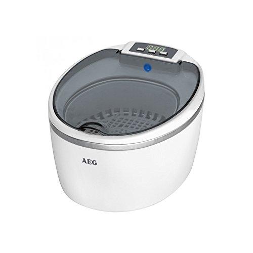 AEG USR 5659 Ultraschallreiniger für Brille, Uhr, CD | Hygienereiniger | Farbe: weiß | neues Modell 2015