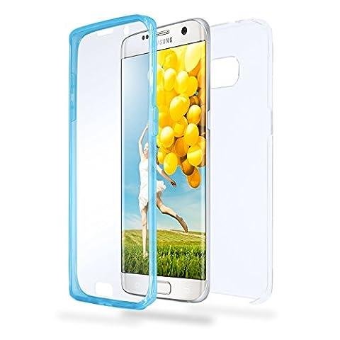 Samsung Galaxy S7 Edge Hülle Silikon Transparent [OneFlow 360 Grad Touch Cover] Dünne Schutzhülle Blau Handyhülle für Samsung Galaxy S7 Edge Case Ultra-Slim Silikonhülle