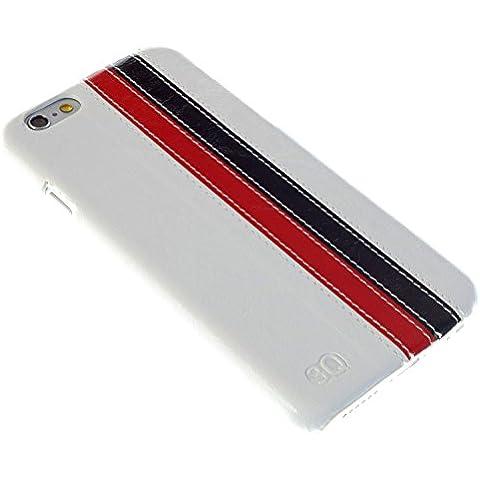 3Q Lujosa Funda Apple iPhone 6 Plus Funda iPhone 6S Plus Carcasa Novedad Mayo 2016 Cover iPhone 6 Plus Top Diseño lujoso exclusivo Suizo Blanco Rojo