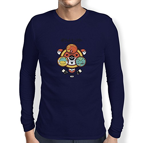 TEXLAB - Poke Trainer - Herren Langarm T-Shirt Navy