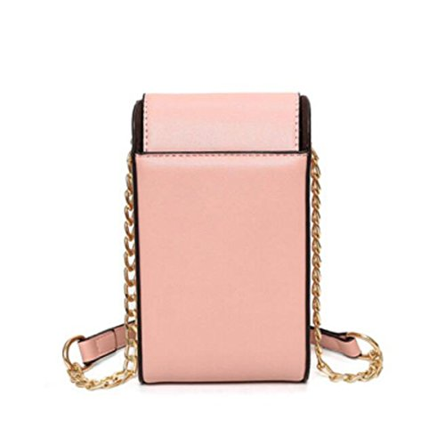 Neue Mini Single Gürtelschnalle Schulter,White Pink