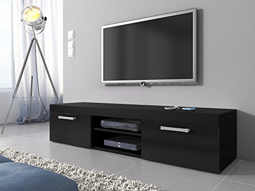 tv-mobel-lowboard-schrank-stander-mambo-schwarz-matte-160-cm