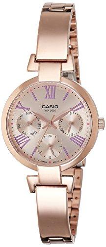 41zP9Uy37SL - Casio Enticer Rose Gold Women LTP E404PG 4AVDF watch